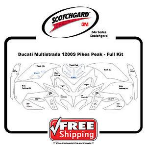 Fits Ducati Multisrada 1200s Pikes Peak - 3M 846 Scotchgard - Paint Protection