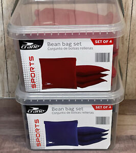 Crane Sports Bean Bag Set 4- Red; 4 Blue Brand New OEM Corn Hole Bean Bags