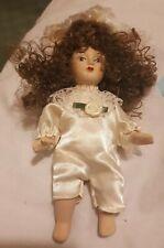 Porcelain Figure dressed Dolls House People Child Dolly 17cm