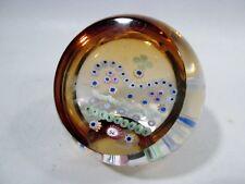 Ltd Ed CAITHNESS Scotland Art Glass PAPERWEIGHT Gold Crown Golden Jubilee L01130
