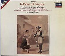 DONIZETTI : L'ELISE D'AMORE / SUTHERLAND - PAVAROTTI - [ DOUBLE CD + LIVRET ]