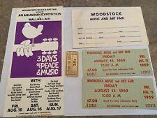 WOODSTOCK 1969 LOT $7 TICKETS FOOD COUPON WALLKILL ORDER FORM FLYER JIMI HENDRIX