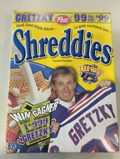 Wayne Gretzky Shreddies Cereal Box Canada New York Rangers 4 Cards on back