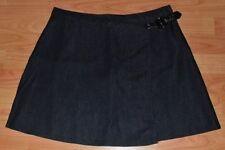 Papaya Polyester Short/Mini Skirts for Women