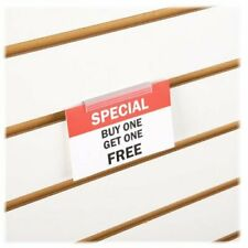 Slatwall Economy Sign Holder - Flush Signage & Card Grip for Slatwall Panels