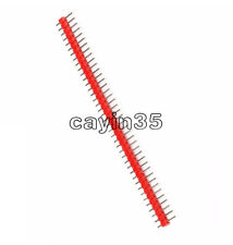 10PCS  Red Color 40Pin 1x40P Male 2.54mm Breakable Pin Header Strip 40P NEW