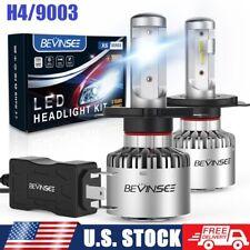 BEVINSEE For Honda Civic 92-03 9003 H4 LED Headlight Bulbs Hi/Low Beam 6500K Kit