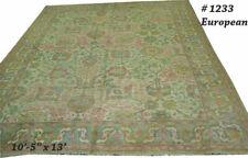An Antique 10'x13' Turkish Oushak/Ushak Design Area Rug