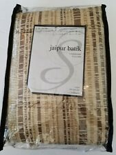 "Jaipur Batik Rod Pocket Pebble Brown 54""x108-inch Curtain Panel EXTRA LONG"