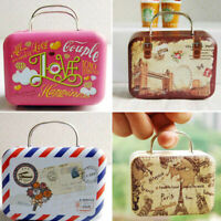Cute Dollhouse Miniature Metal Luggage Box Suitcase Dolls Accessory Mini Ho CL