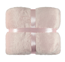 Pink Plush Blanket Thick & Super Soft to touch - Single Bed or Throw