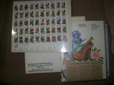 1982 - STATE BIRDS AND FLOWERS #1953A-2002A Mint Sheet & Book newspaper article
