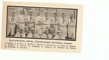 Kalamazoo Kazoos 1909 Team Picture Baseball