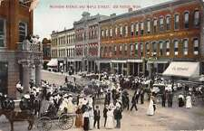 Big Rapids Michigan Street Scene Store Fronts Antique Postcard K16414