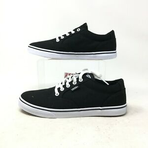 Vans Low Top Skateboarding Shoes Casual Sneakers Lace Up Suede Black Womens 6