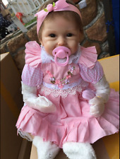 """22"""" Silicone Vinyl Soft Real Looking Pink Lovely Baby Girl New Reborn Baby Doll"""