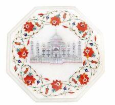 "12"" Semi Precious Stone Handicraft Inlay Marble Table Top Home Room Decor"