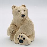 Vintage Artesania Rinconada Polar Bear Figurines #79 Uruguay Classic Collection