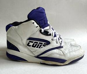 VTG 80s 90s Converse Cons Accelerator High Tops NBA Shoes Korea White Purple