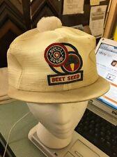 trucker hat baseball cap Amer Crystal Sugar Beet Seed Short Brim Pom vintage Old