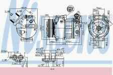 Nissens OE QUALITY Air Conditioning Compressor 890125 Fits Ford