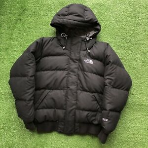 The North Face 550 Goose Down Puffer Hooded Jacket Coat Black Women's Small TNF
