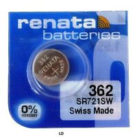 362 RENATA WATCH BATTERIES SR721SW New packaging Authorized Seller