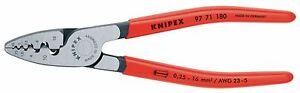 Knipex Crimping plier for end sleeves (ferrules), 180mm