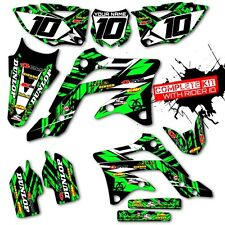 2003 2004 2005 2006 2007 2008 KX 125 250 GRAPHICS KIT ISLAND STRIKE : GREEN / BK