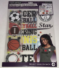 NEW Iron-On Transfers Sports Decals T-Shirt Transfers Next Style