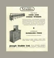 1955 Joseph Stubbs Mill Street Works Ancoats Cone And Cheese Winder
