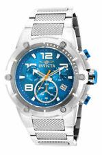 Invicta 19527 Men's Speedway Blue Dial Steel Bracelet Chronograph Watch