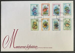 Montserrat 1983 Marine Life Definitive FDC- Fish & Coral