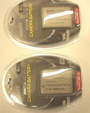 TWO 2X NB-7L Batteries 1800mAh for Canon G10 G11 G12 SX30 IS
