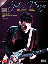John Mayer Legendary Licks Guitar Tab Book Cd NEW!