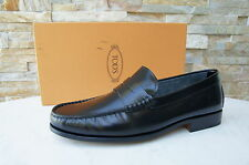 Tod´s Slipper taille 40,5 6,5 chaussures chaussures basses mocassins noir NEUF