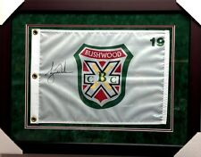Tiger Woods Signed/Autographed Framed Bushwood Country Club Pin Flag UPPER DECK