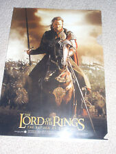 LORD of the RINGS The Return of the King Japan RARE clear file B ARAGORN Frodo