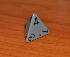 chessex dadi dado dice d4 - 4 facce - grigio - risiko - monopoli -  mtg
