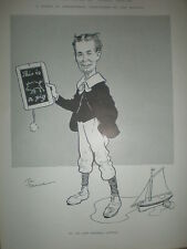 In the Days of Their Youth Tom Browne does Sir Thomas Lipton 1901 cartoon print