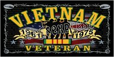 Personalized Monogrammed Custom License Plate Auto Car Tag Vietnam Vet.