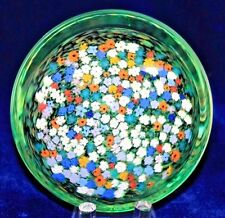 LOVELY Large PETER RAOS Colorful MONET SPRING Art Glass PAPERWEIGHT