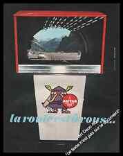 Publicité ANTAR Pompe à essence Citroen DS Tunnel ss Mont Blanc Vintage Ad 1967