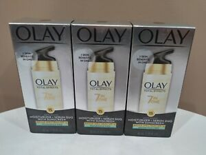 3 Olay Total Effects 7 In One Moisturizer Serum Duo Spf 15 - 1.35 oz each 1/2020