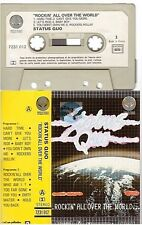 STATUS QUO cassette K7 tape ROCKIN' ALL OVER THE WORLD france french paper label