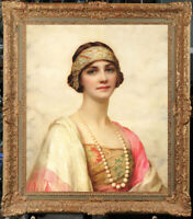 "Old Master-Art Antique Oil Painting Portrait girl noblewoman on canvas 20""x24'"