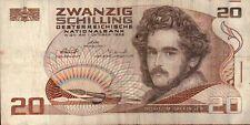 BANCONOTA DA 20 SCELLINI SWANZIG SCHILLING AUSTRIA WIEN 1986