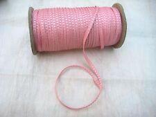 "10 Yards Vintage Tiny Rayon Pink Square Ribbon Antique Doll 1/8"" Lampshade"