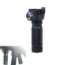 Tactical Fore Grip White LED Flashlight For Rifle Picatinny Weaver 20mm Rail