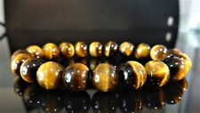 """AAA+ Genuine Yellow Tiger Eye Bracelet for Men (On Stretch) 10mm - 8"""" inch"""